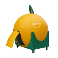 2019 cartoon shape of food cart orange watermelon food kiosk