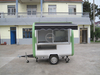 KN-280H Stainless Steel Catering Equipment Mobile Food Carts Vending Truck Cart for Street Snacks