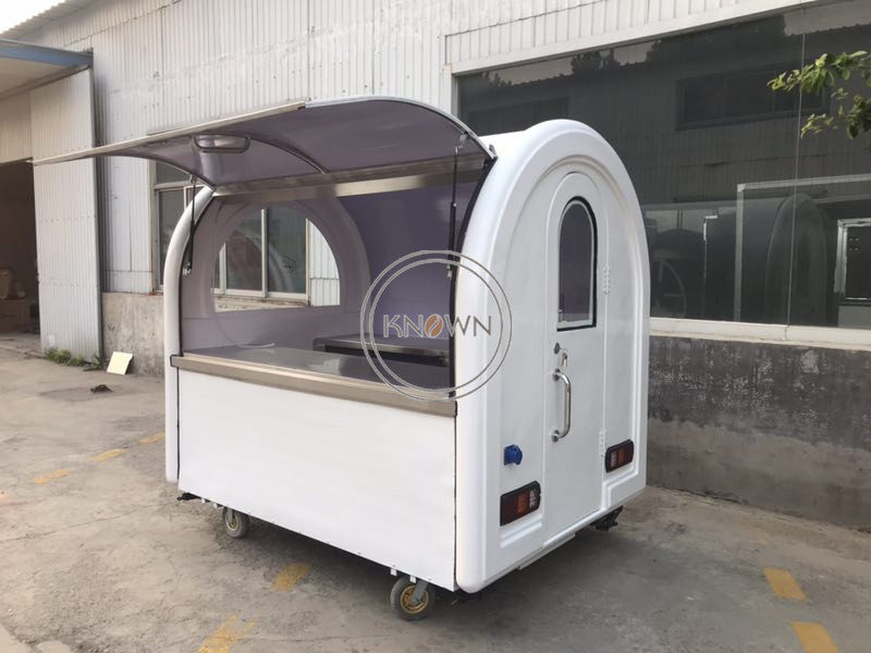 Outdoor Ice Cream Mobile Street Fast Food Cart for Hot Dog Food Truck