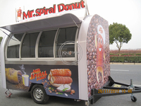 KN-290 Hot Food Donut Ice Cream Coffee Shop Mobile Cart