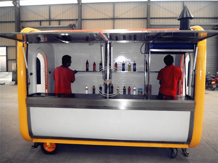 Popular KN-TA 220 Hand Push Food Cart Fast Food Van Mobile Food Kiosk