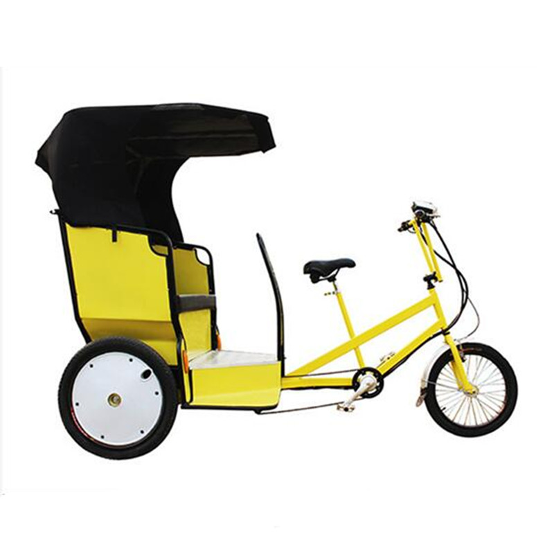 48V 500W Pedal And Electric Rickshaw Cargo Bike Three Wheel Electric Tricycle for Tourist Passenger Pedicab Drop Shipping