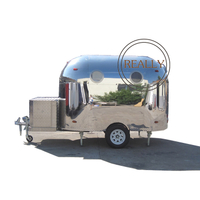 3m Length Customized Made Stainless Steel Airstream Snack Food Trailer Food Concession Trailer