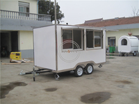 KN-FS350 3.5M Length Mobile Street Food Truck Electric Fast Food Cart for Sell Snack Customized Catering Vending Cart