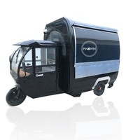 KN-220G Electric Ticycle Food Truck Mobile Kitchen Trailer Ice Cream Coffee Hot Dog Snack Food Cart with Power Drive on Road