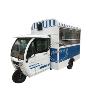 1100W 48V Electric Tricycle Vehicle Three Wheels Cargo Mobile Truck Hot Dog Coffee Food Cart for Sale