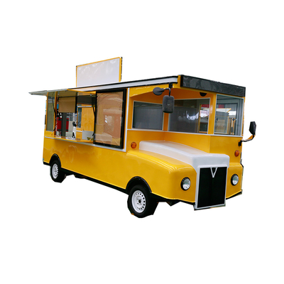 Electric Food Truck with Advertising Board for Sale