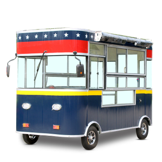 Fire insulation material electric food truck vending food cart for sale