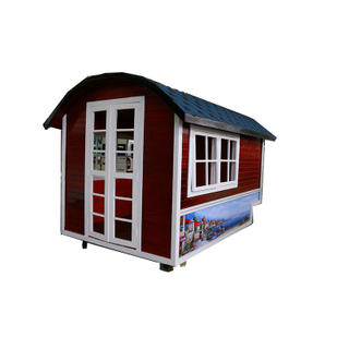Red House Food Kiosk Mobile Food Cart Fast Food Truck for Sale